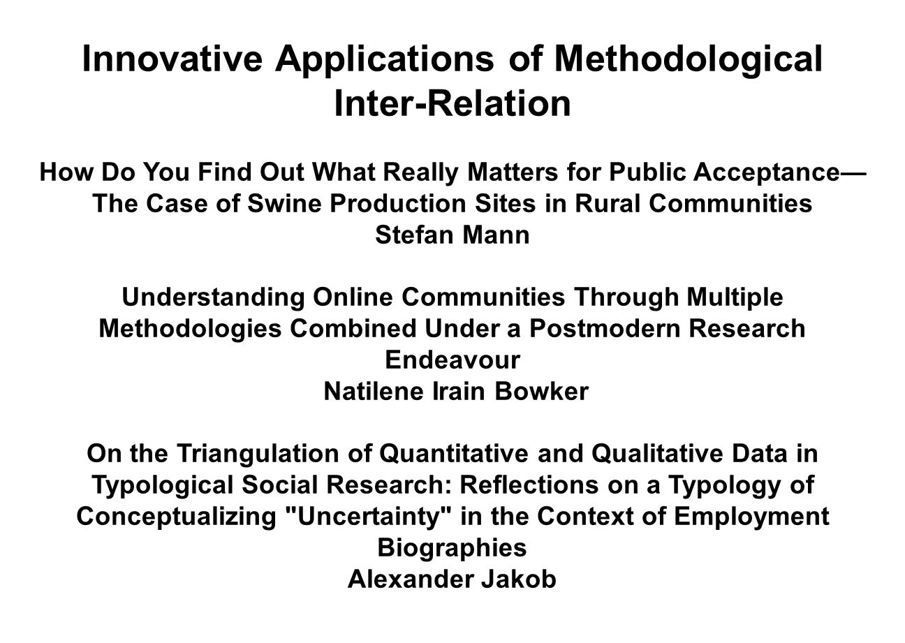 Innovative Applications of Methodological Inter-Relation