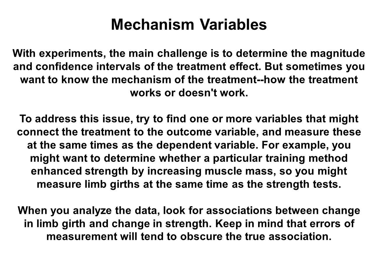 Mechanism Variables