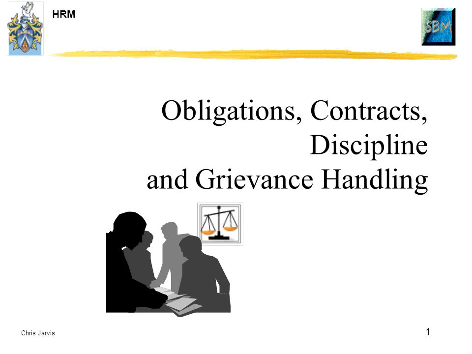 Obligations, Contracts, Discipline