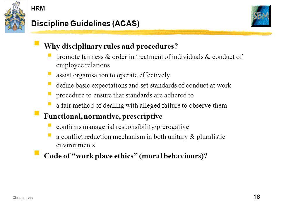 Discipline Guidelines (ACAS)