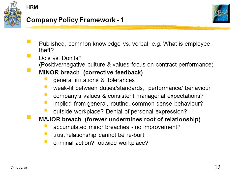 Company Policy Framework - 1