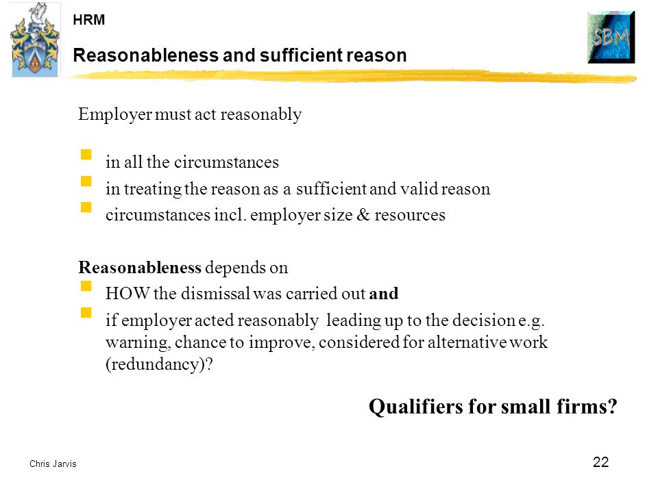 Reasonableness and sufficient reason