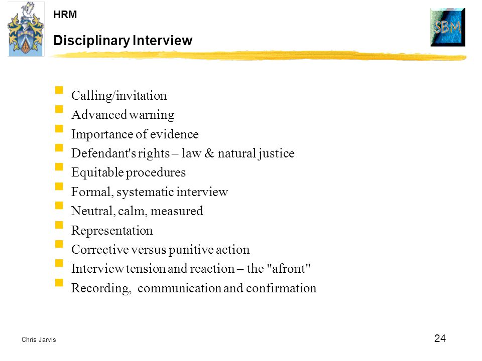 Disciplinary Interview