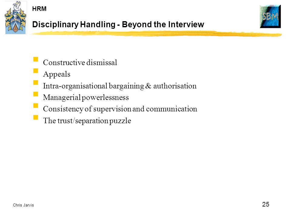 Disciplinary Handling - Beyond the Interview