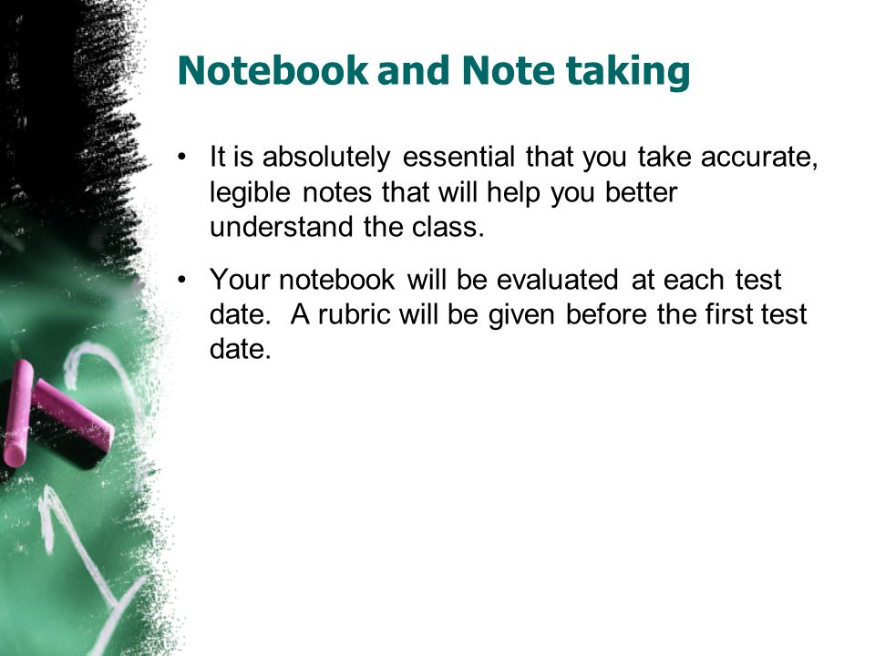 Notebook and Note taking