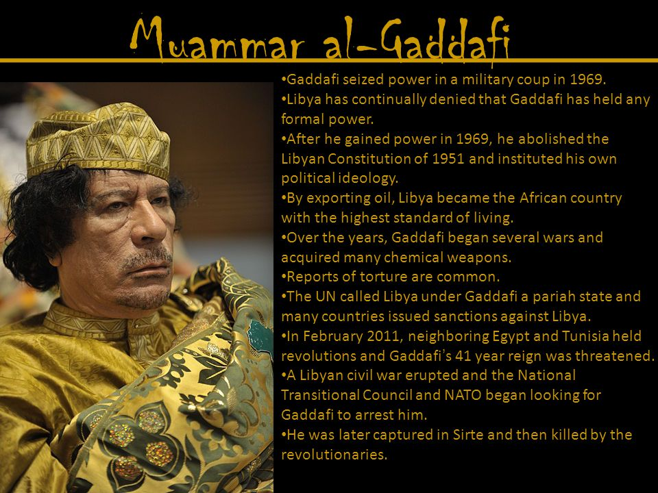 Muammar al-Gaddafi Killed in October 2011