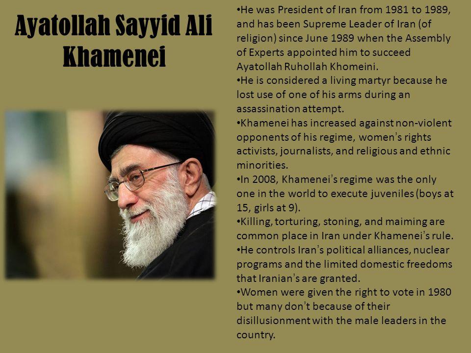 Ayatollah Sayyid Ali Khamenei