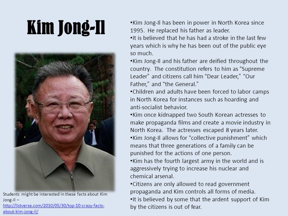 Died December 2011 Kim Jong-Il
