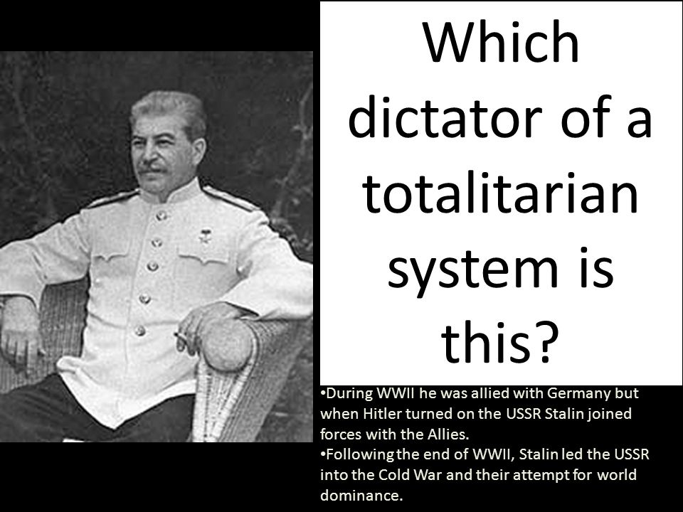 Which dictator of a totalitarian system is this