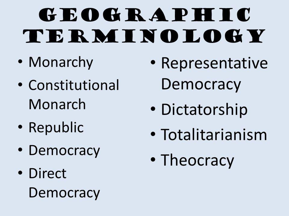 Geographic Terminology