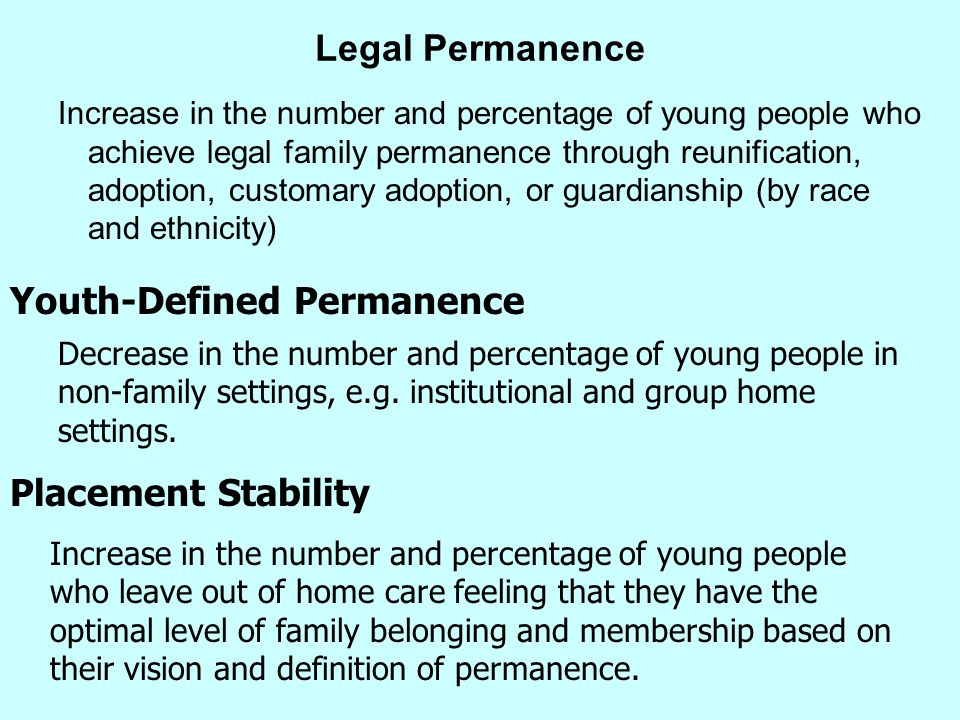 Youth-Defined Permanence