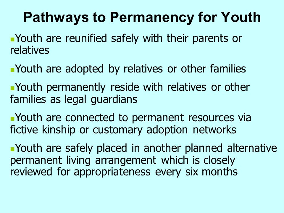 Pathways to Permanency for Youth