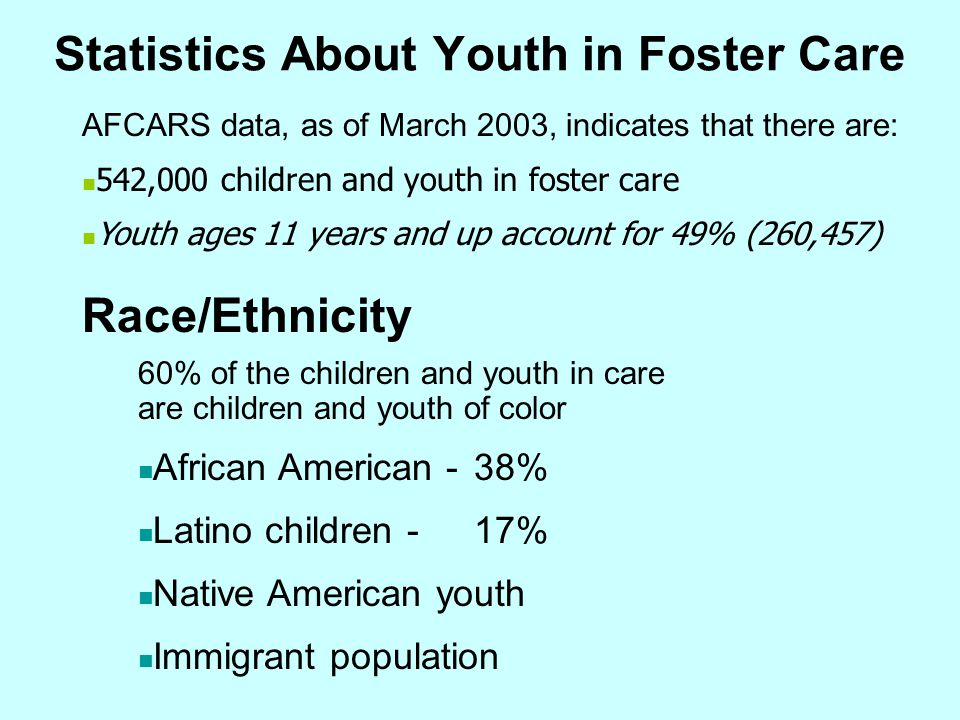 Statistics About Youth in Foster Care