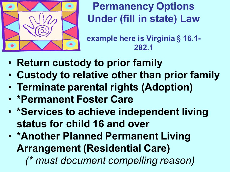 Return custody to prior family