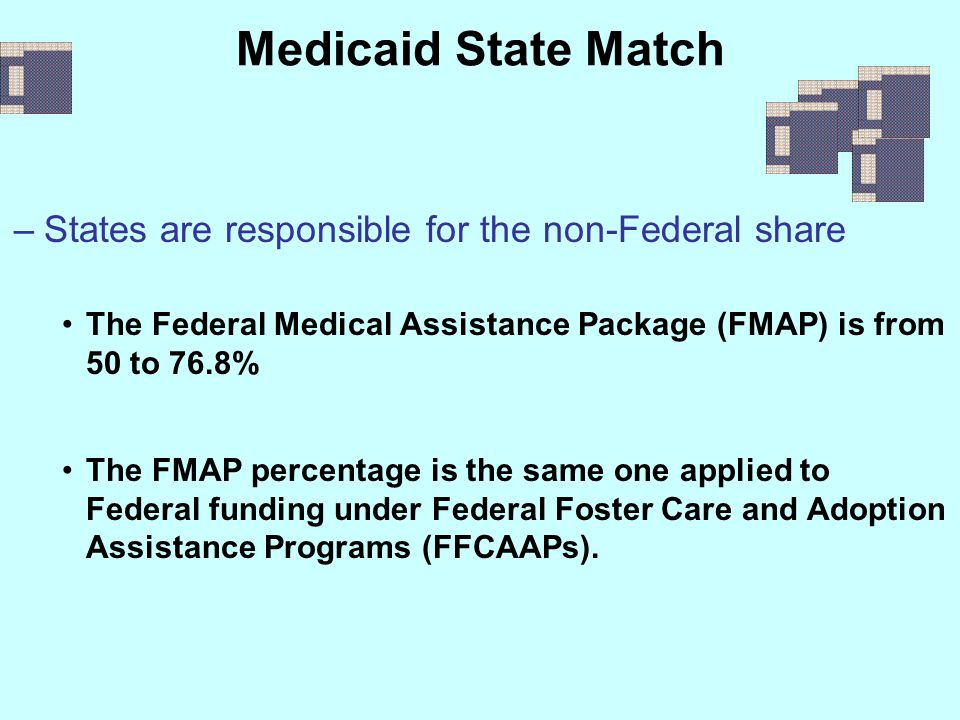 Medicaid State Match States are responsible for the non-Federal share