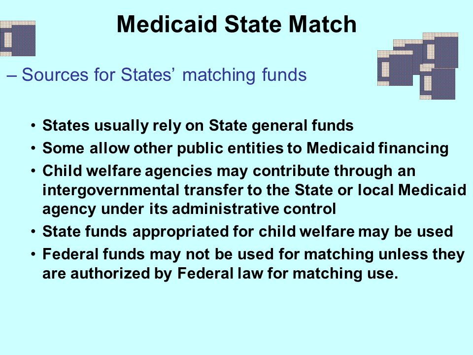 Medicaid State Match Sources for States' matching funds