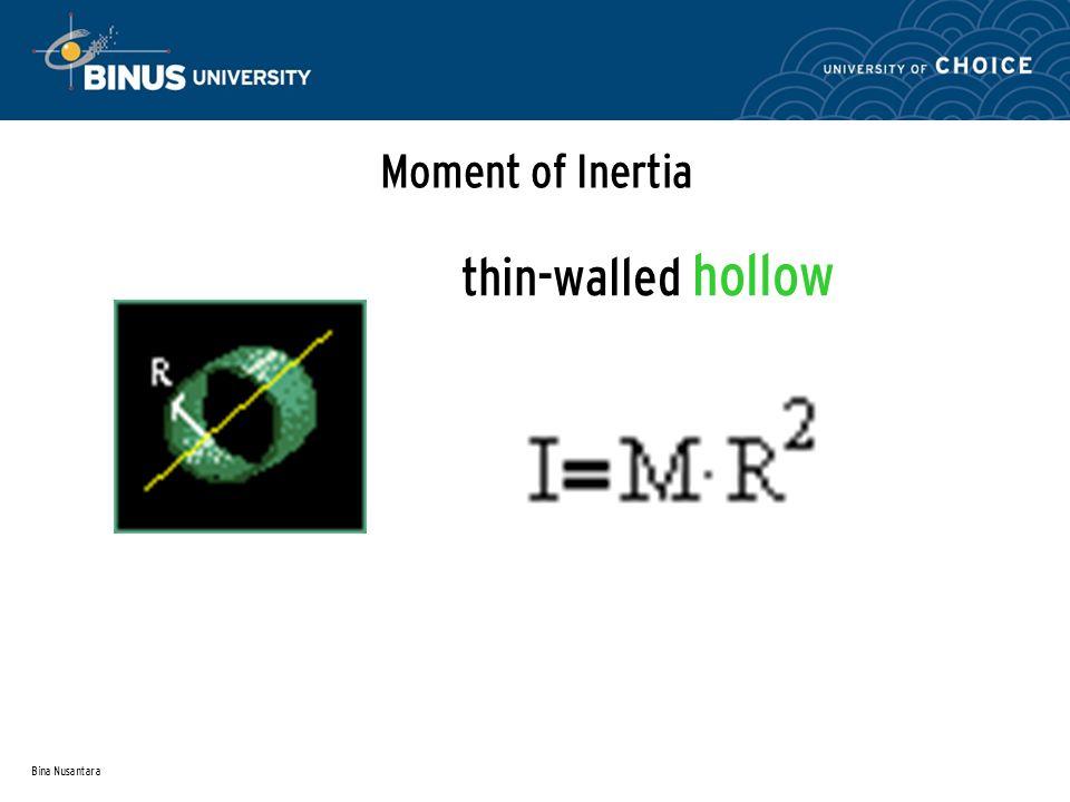 Moment of Inertia thin-walled hollow Bina Nusantara
