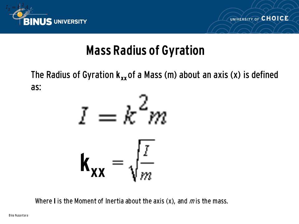 Mass Radius of Gyration