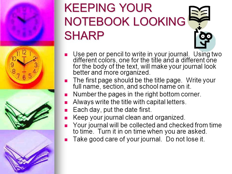 KEEPING YOUR NOTEBOOK LOOKING SHARP