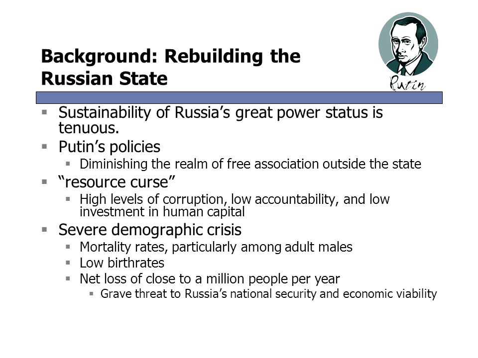 Background: Rebuilding the Russian State