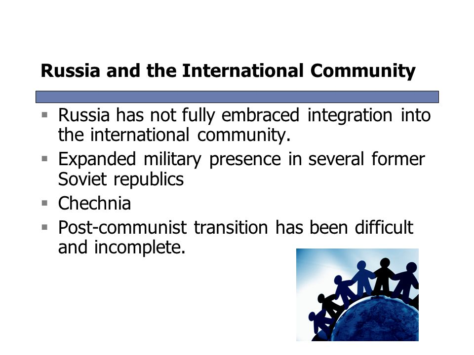 Russia and the International Community