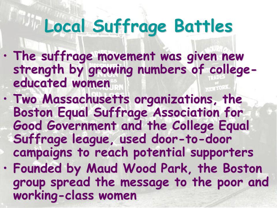 Local Suffrage Battles