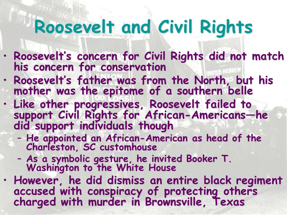 Roosevelt and Civil Rights