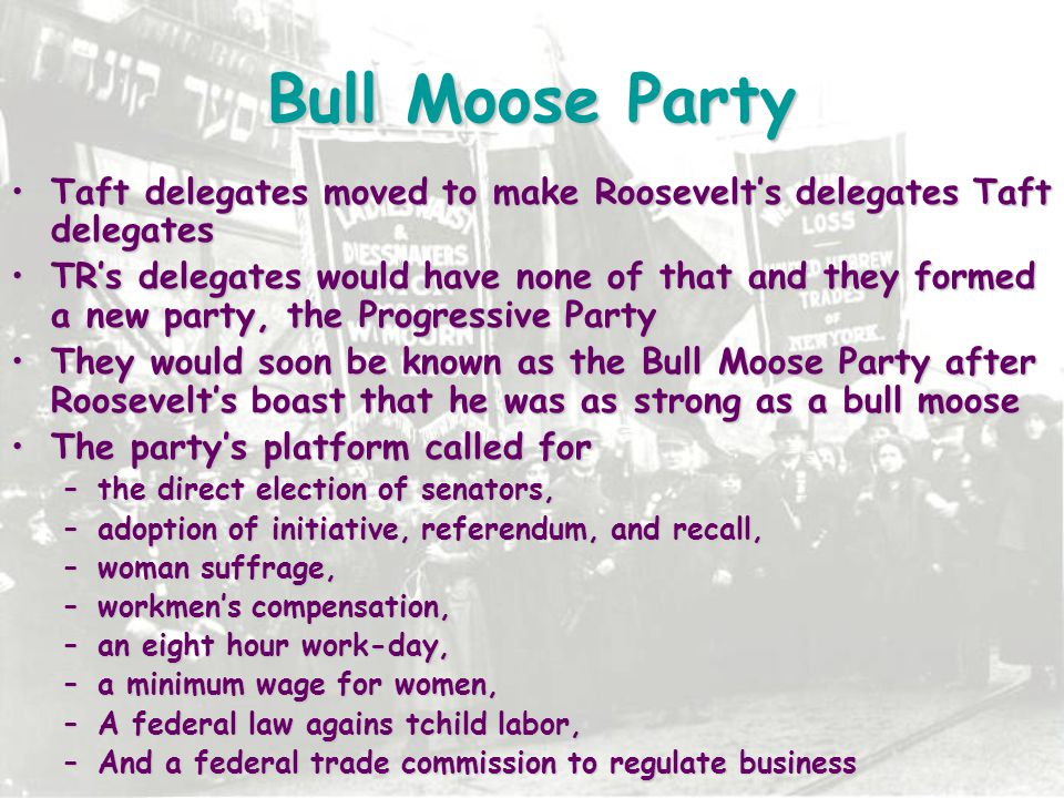 Bull Moose Party Taft delegates moved to make Roosevelt's delegates Taft delegates.