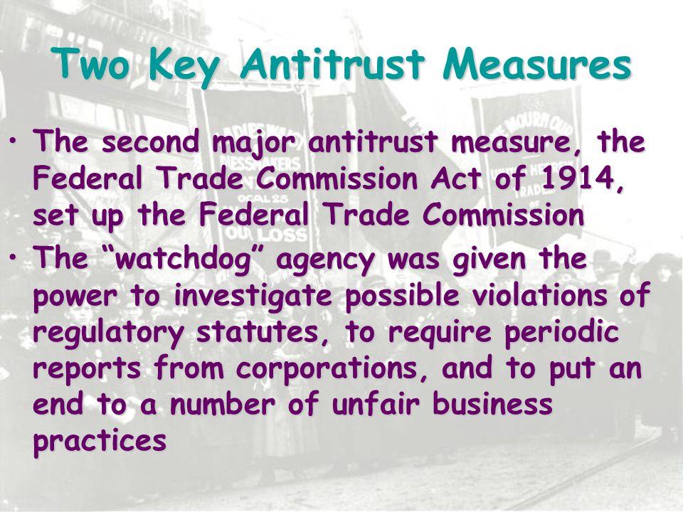 Two Key Antitrust Measures