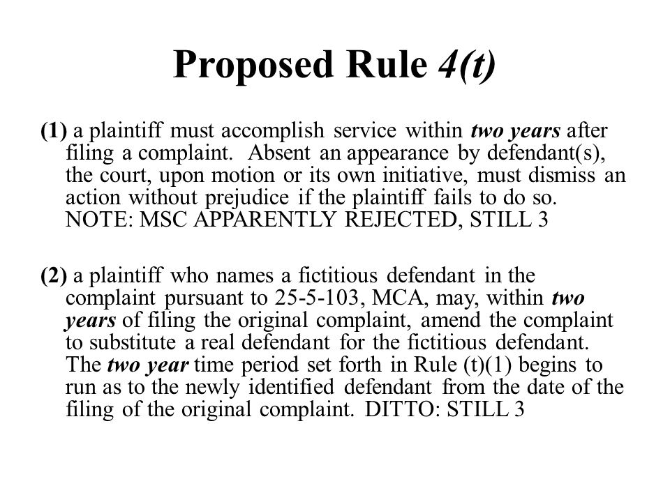 Proposed Rule 4(t)