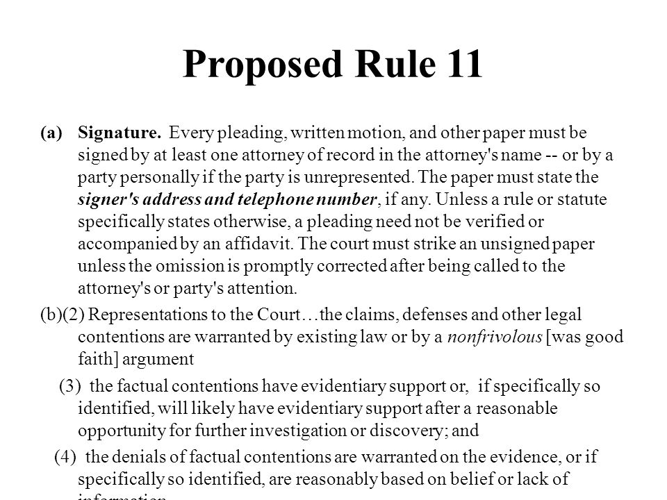 Proposed Rule 11