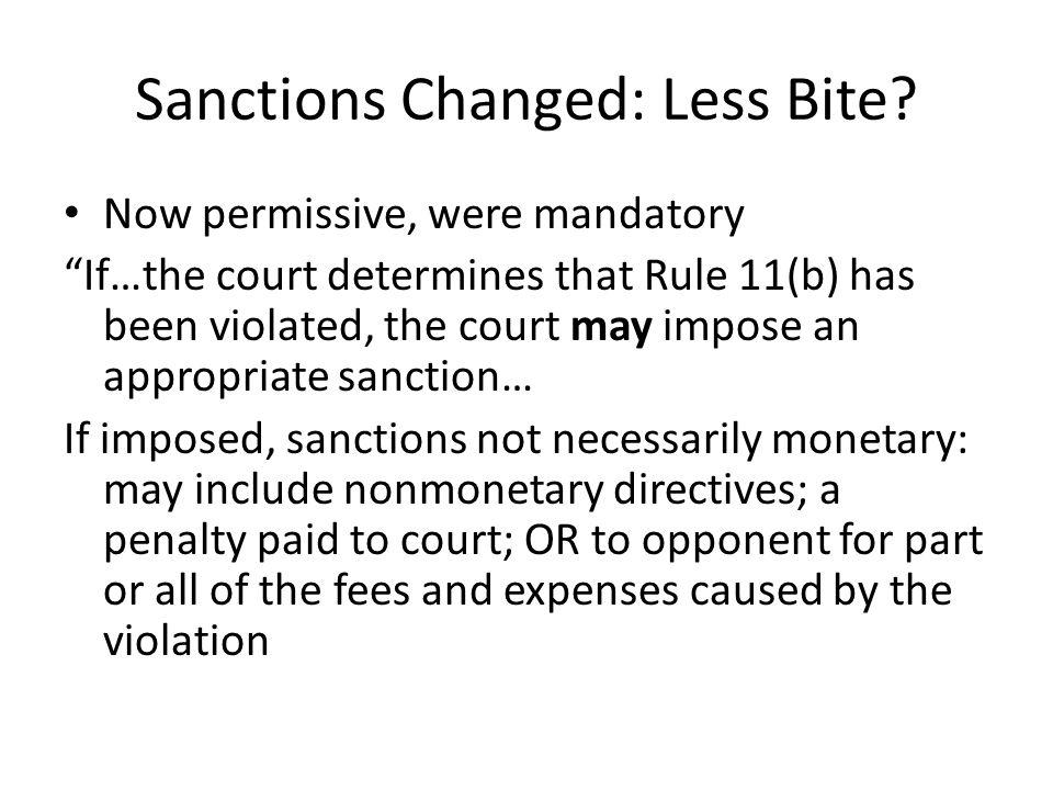 Sanctions Changed: Less Bite