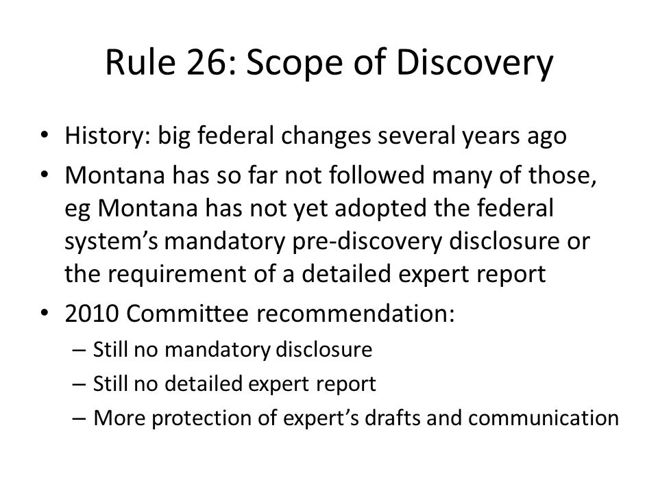 Rule 26: Scope of Discovery