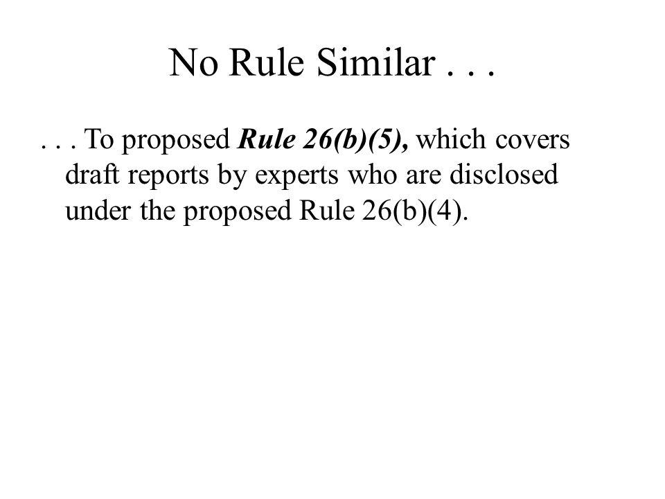 No Rule Similar .