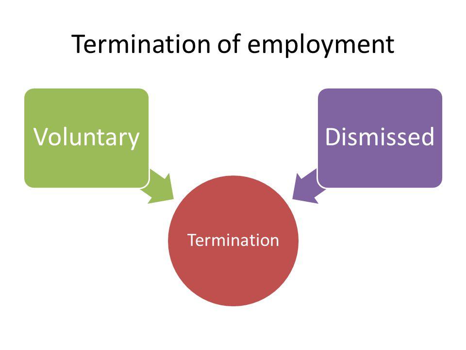 Termination of employment