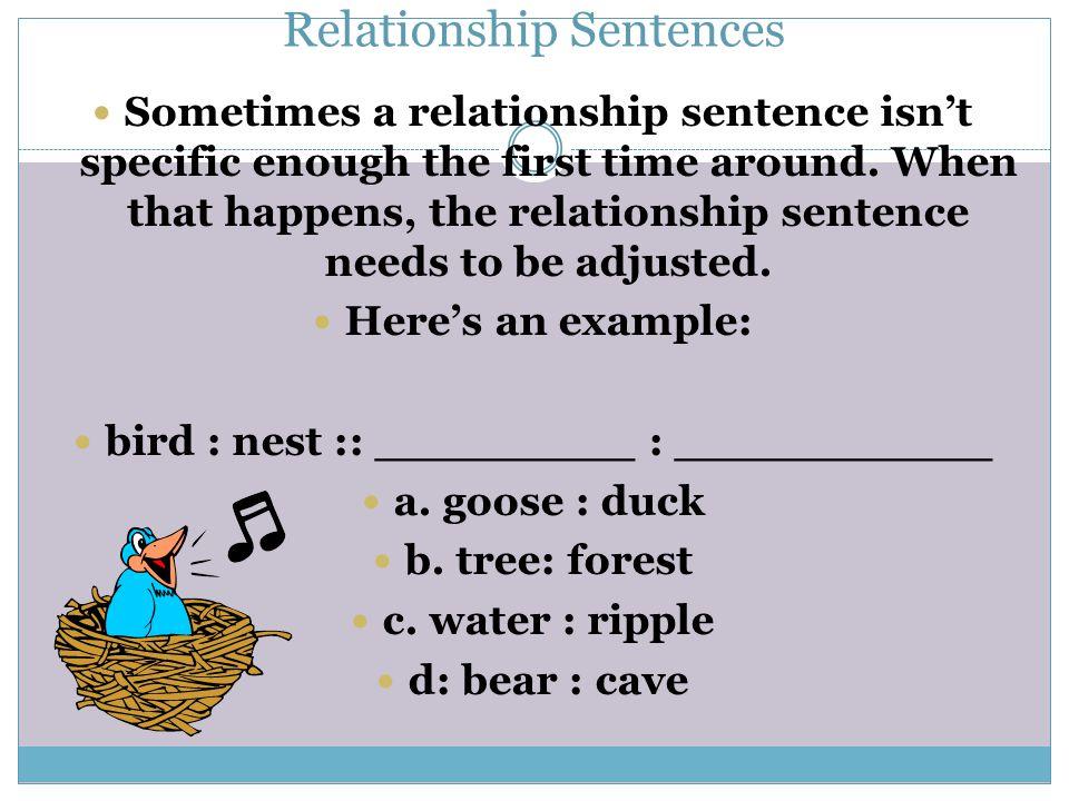 Relationship Sentences