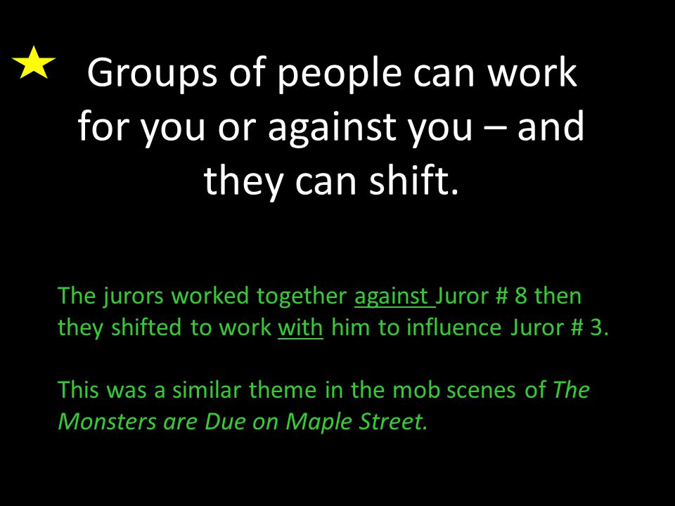 Groups of people can work for you or against you – and they can shift.