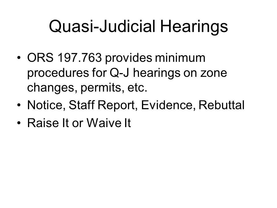Quasi-Judicial Hearings
