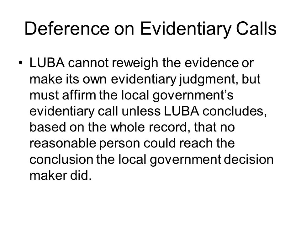 Deference on Evidentiary Calls