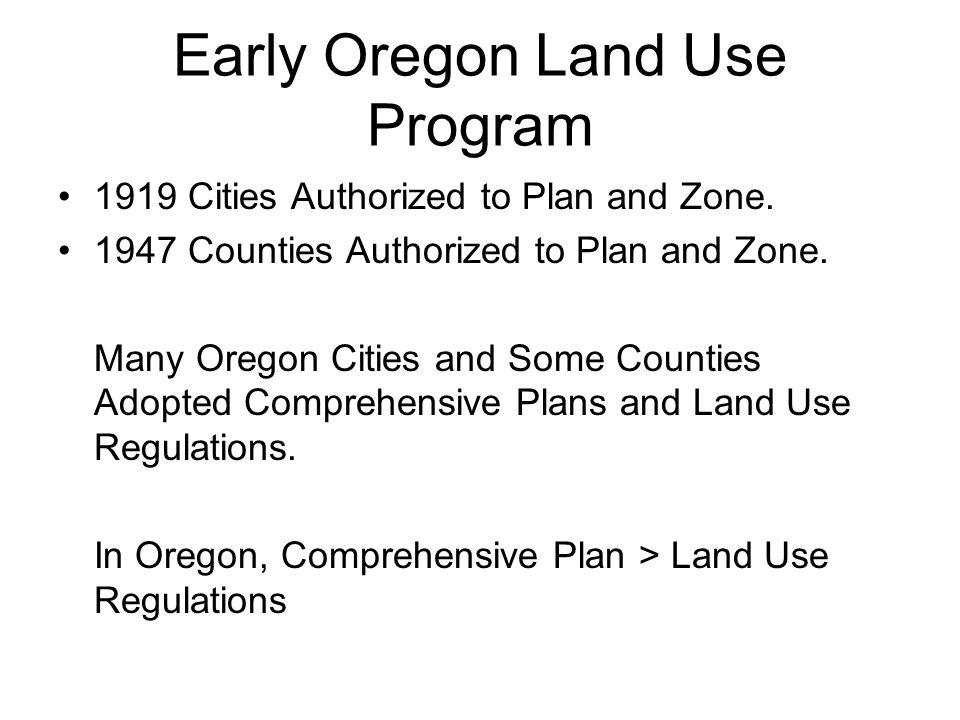 Early Oregon Land Use Program