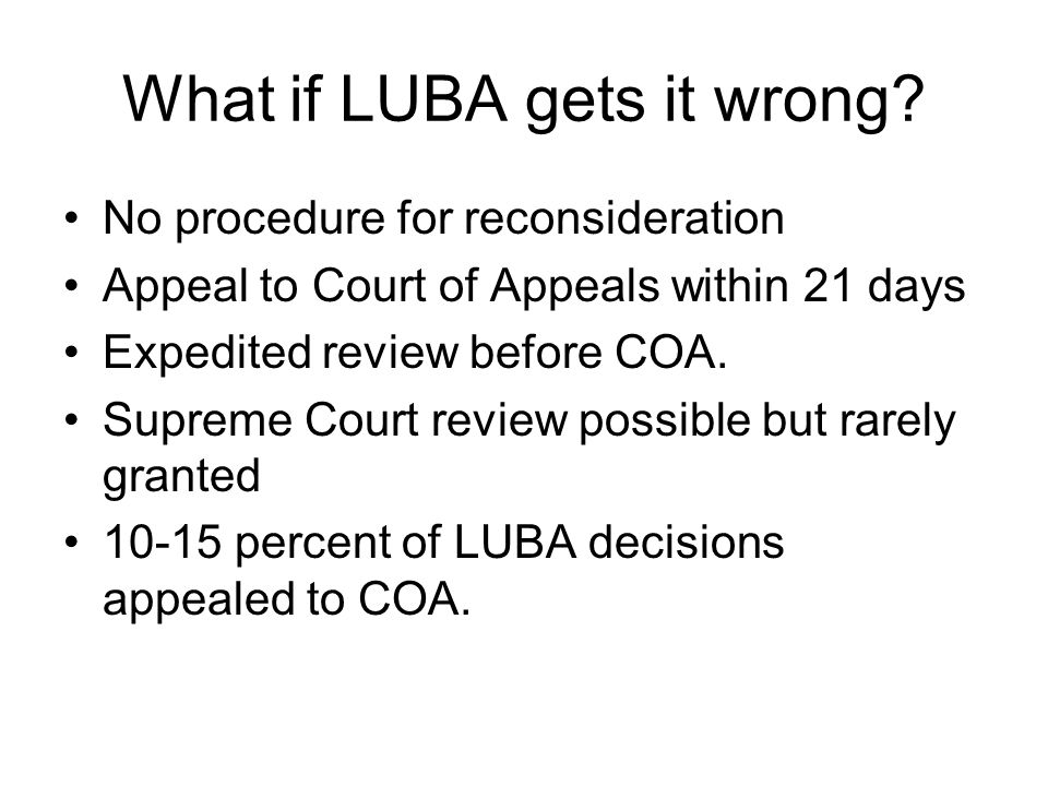 What if LUBA gets it wrong