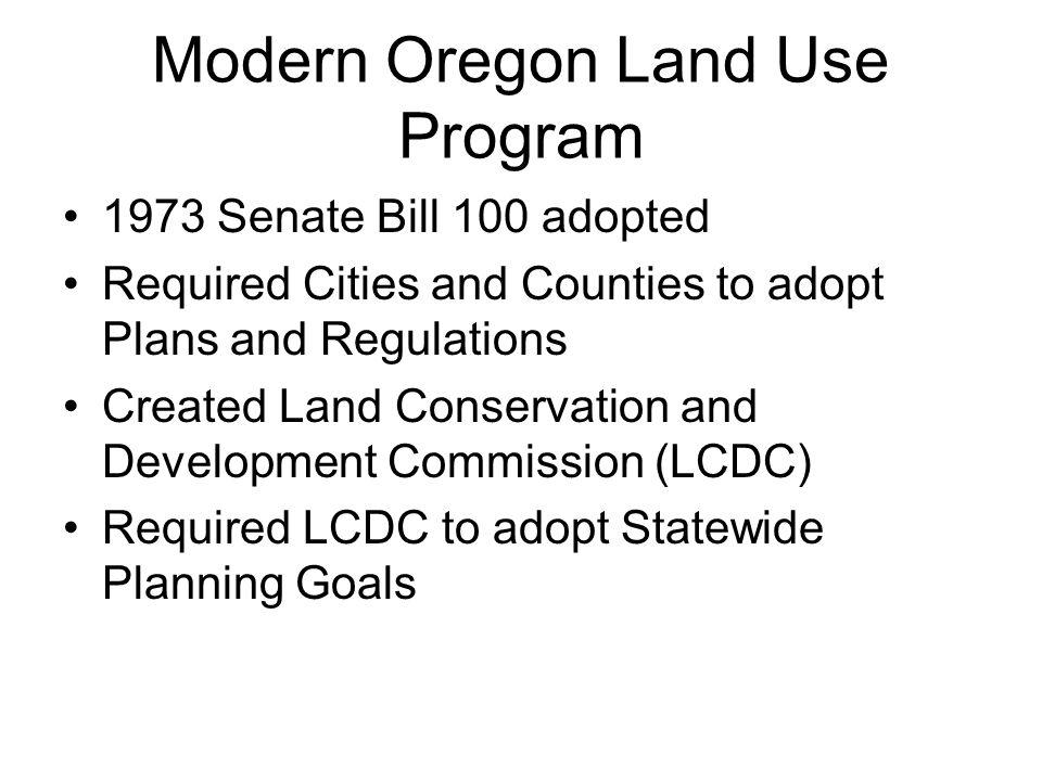 Modern Oregon Land Use Program