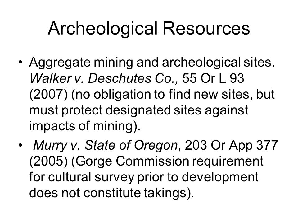 Archeological Resources