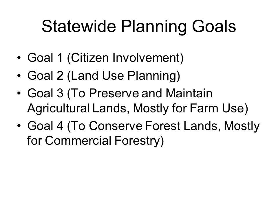 Statewide Planning Goals