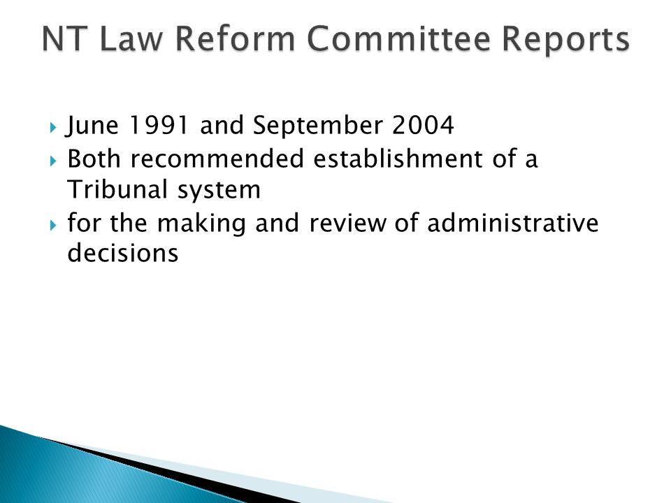 NT Law Reform Committee Reports