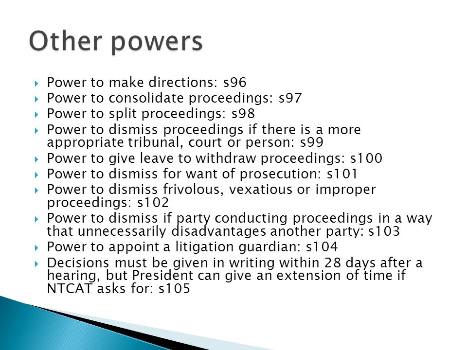 Other powers Power to make directions: s96