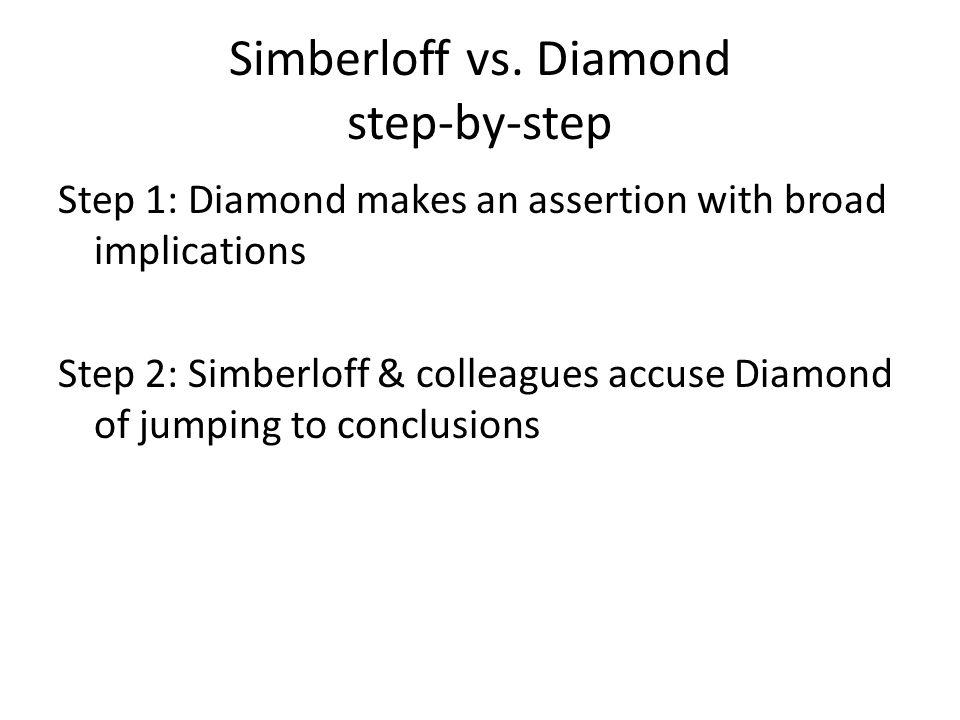 Simberloff vs. Diamond step-by-step