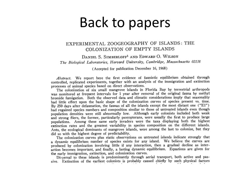 Back to papers