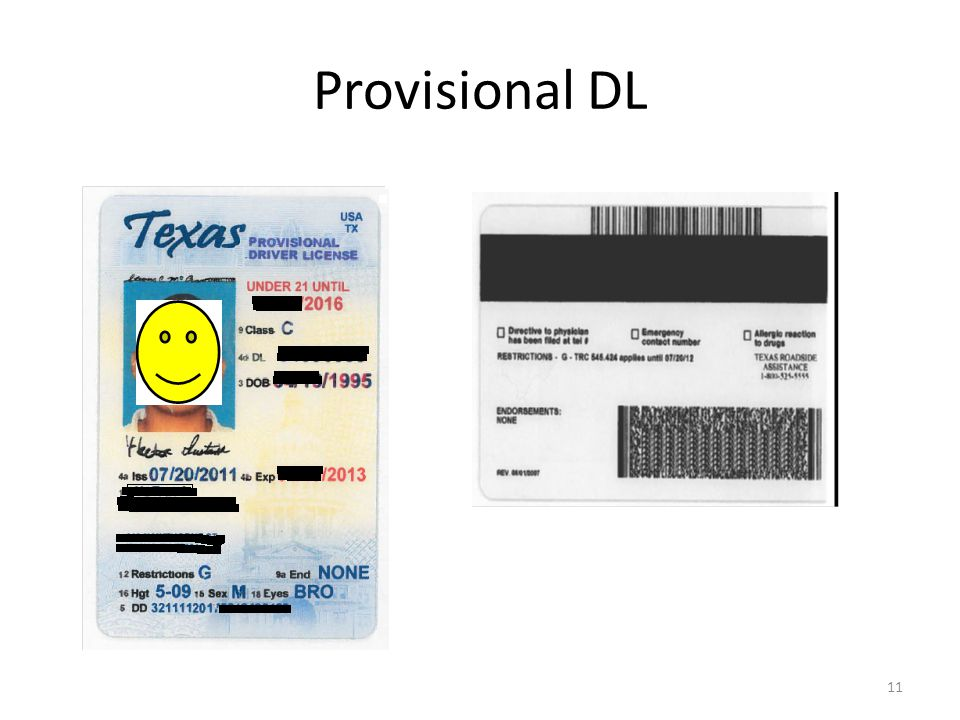 Provisional DL