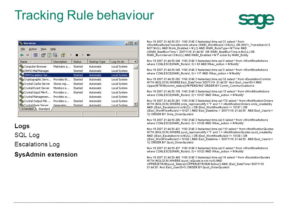 Tracking Rule behaviour